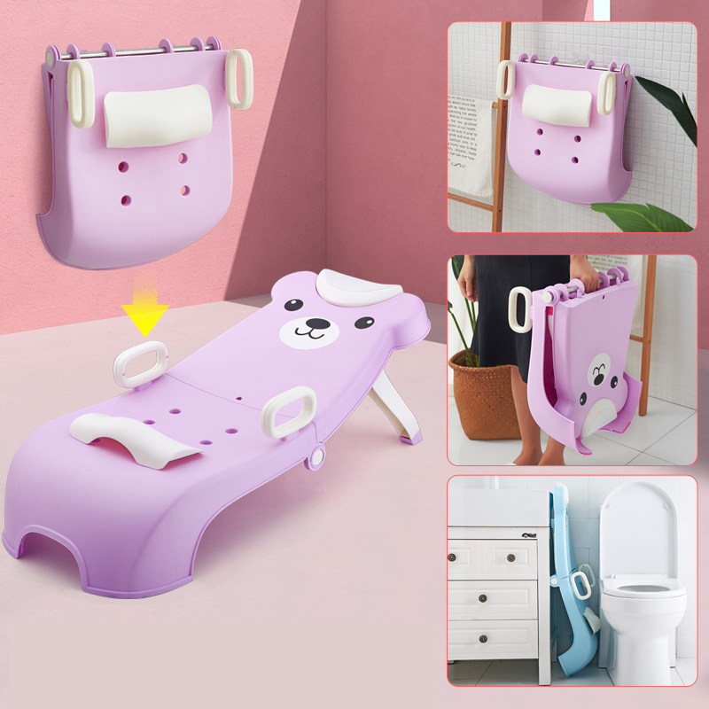 Hot Sale Fashionable Kids Washing Hair Chair / Baby Shampoo Chair / Plastic Children Bath Chair