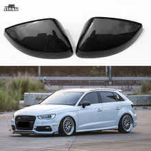цена на Carbon fiber Replacement Side Mirror Cover Caps Shell for Audi A3 Sportback Limousine TFSI 2014 - 2019 A3 8V S3 mirror covers