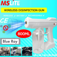 novedades 2020 automatic disinfectant spary gun wireless battery gun uv sterilization light machine steam for sterilize home