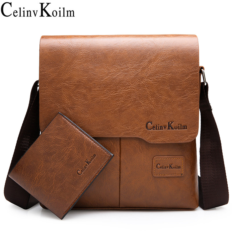 Celinv Koilm Brand Men Messenger Bags Famous Brand Leather Crossbody Shoulder Bag For Man Business Tote Bags Hot Sale Fashion
