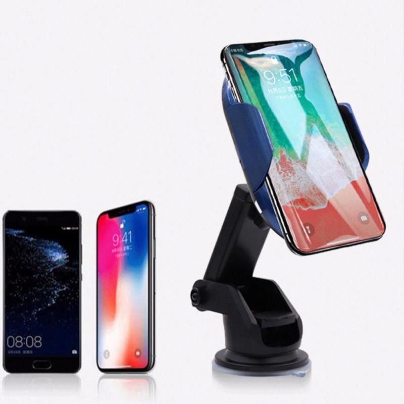Автомобильное беспроводное зарядное устройство для iPhone samsung с инфракрасным датчиком автоматически сокращает интеллектуальное автомобиль...