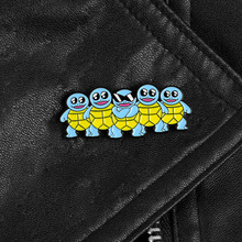 Squirtle Group Enamel Pins Lapel Pins Cute Animal Badges Sunglasses Turtle Funny Brooches for Kids Jewelry Jeans Accessories