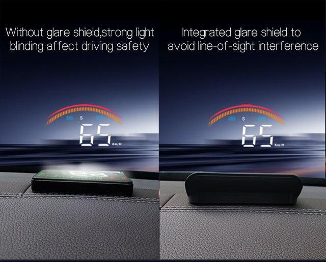 Фото дисплей на лобовое стекло m11 hud obd2 + gps двойная система цена