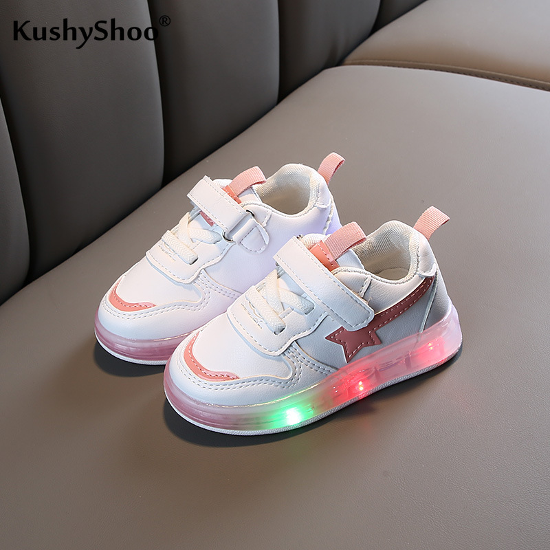 KushyShoo 2020 Spring Korean Children Shining Lights Sport Shoes Led Sneakers Toddler Boy Sneakers  Kids Shoes For Girl School