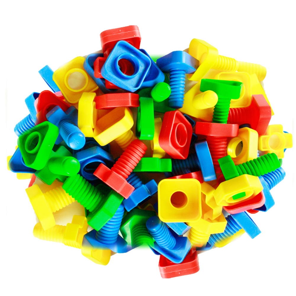 500g 3D Puzzles Baby 3years Educational Mind Build Screw Nut Set Montessori Toys Games For Children