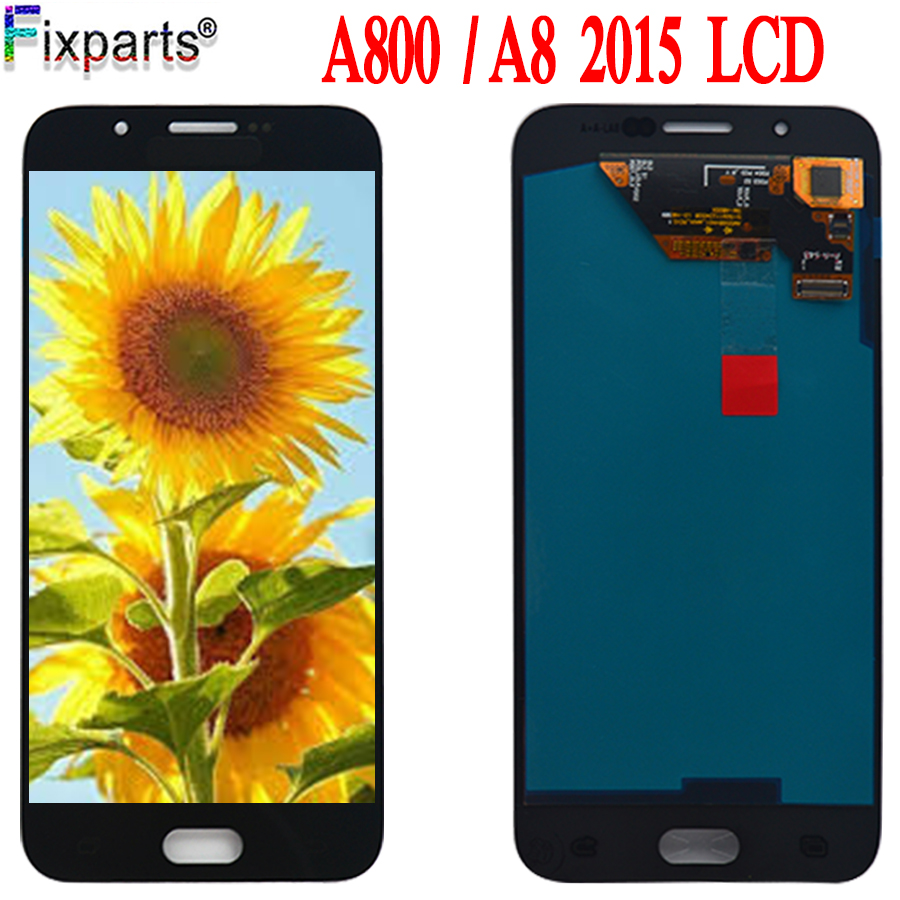 Super AMOLED New For <font><b>Samsung</b></font> Galaxy A8 2015 LCD For <font><b>Samsung</b></font> A800 <font><b>A8000</b></font> A800F LCD Display Touch Screen Digitizer Assembly image