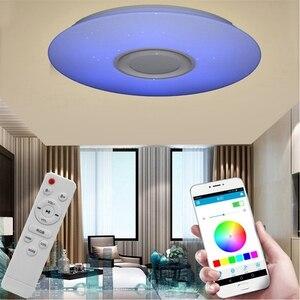 Image 3 - Akıllı LED APP + uzaktan kumanda bluetooth hoparlör ile RGB kısılabilir tavan ışık paneli lamba hoparlör oyuncu çocuklar için yatak odası