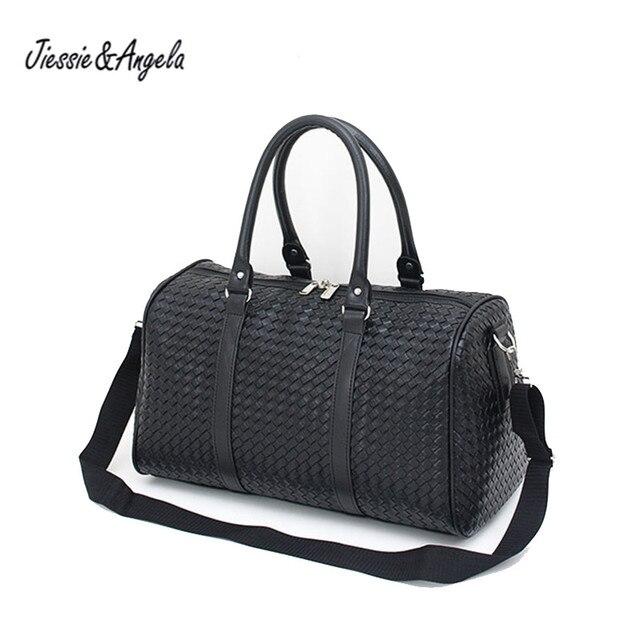 Jiessie&Angela Women Folding Travel Bag Handbags Large Capacity Waterproof Bags Men Portable Luggage Bag Weekend Duffle Bags