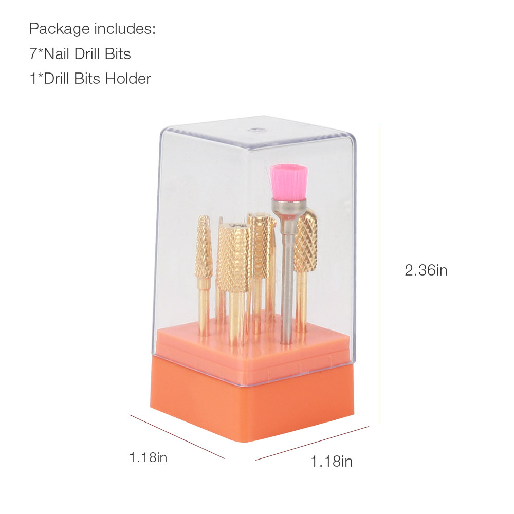 Image 3 - Foreverlily 7pcs/set tungsten steel carbide cermaic nail drill bit kits milling cutter sets electric drill pedicure machine toolNail Art Equipment   -