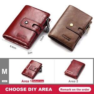 Image 5 - 本革の女性の財布ショートコイン財布ファッション赤レディースカードバッグ小さな女性掛け金ミニクラッチガール高品質
