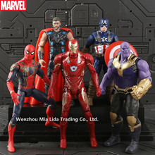 Hasbro Avengers 5pcs/set  Spider-Man Iron Man Captain America Thor Thanos Doll Model toys все цены