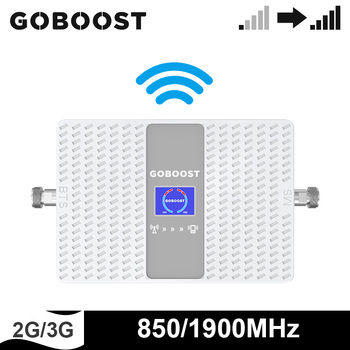 GOBOOST 2g 3g Cellular Signal Booster Band 2 UMTS 850 Mhz Band 5 LTE 1900 Mhz Dual Band Signal Amplifier Repeater