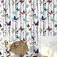 Beautiful 3d Butterfly Tree Wallpaper Kids Room Decoration Colourful