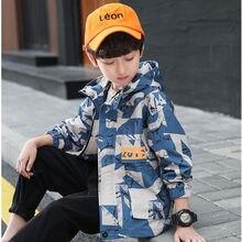 Teens Boys Girls Hoodie Autumn Windbreaker Outerwear Children Disguise Army Camouflage Baseball Jacket Tracksuit 10 12 14 Years