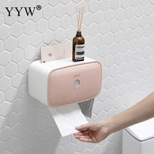ABS Plastic Punch-free Tissue Box Waterproof Protable Toilet Paper Holders Shelf Tray Roll Tube Storage