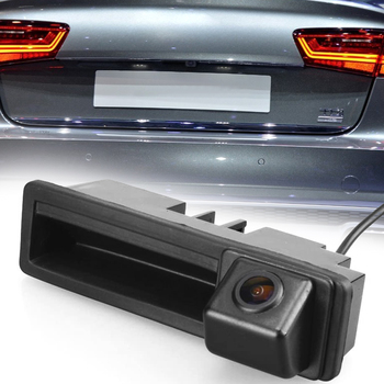 Car Dvr Radar Detector Rear View IP67 Waterproof Trunk Handle Reverse Rear View Camera for Audi A6L Q7 A3 A4 A6 image