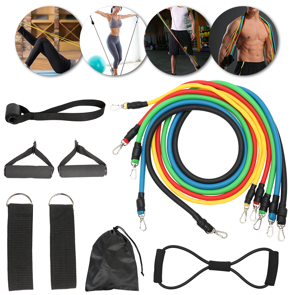 12pcs of 8 Shaped Fitness Pull Elastic Rubber Loops