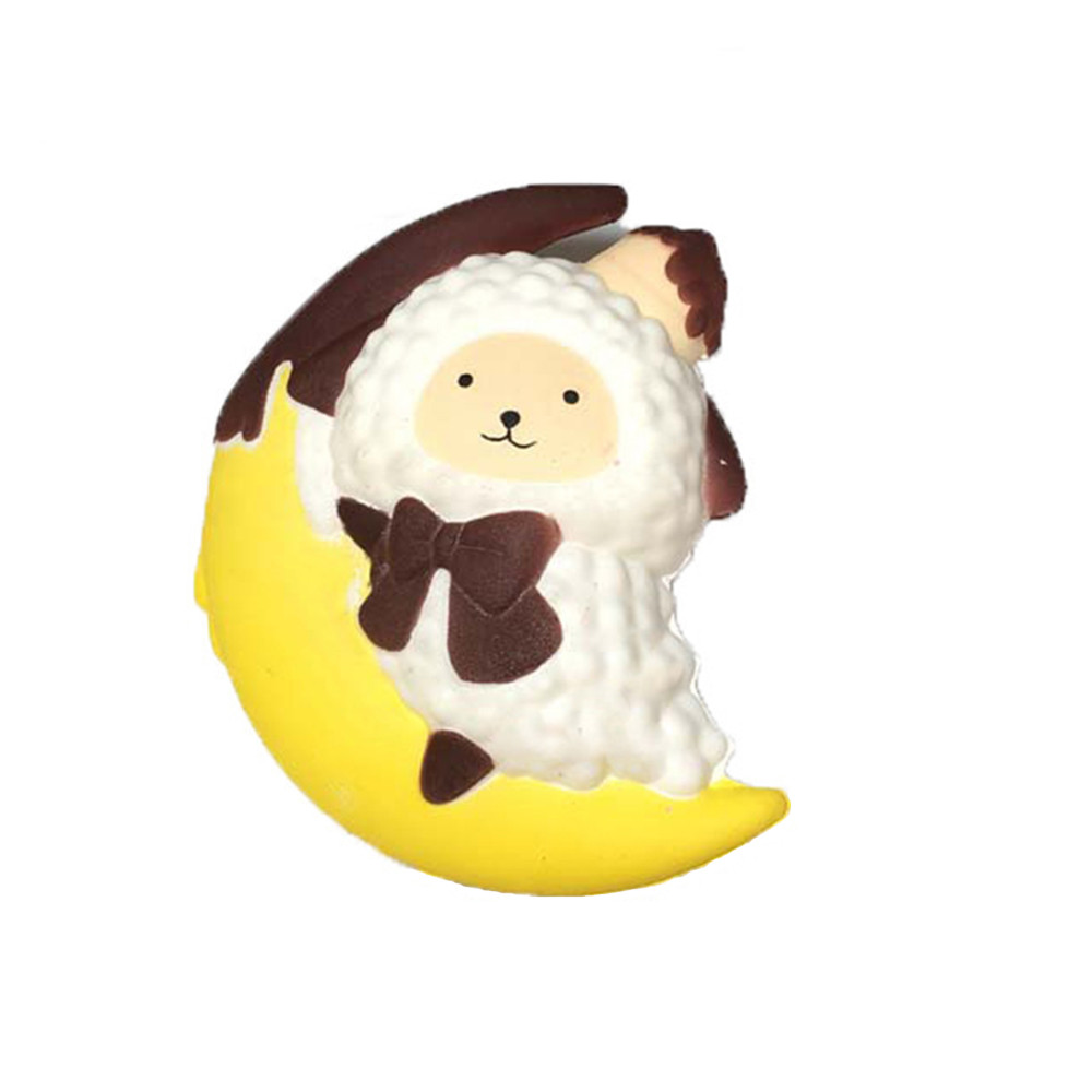 Cute Animals Anti-stress Relief Funny Gift Toy Cartoon Moon Sheep Stress Reliever Soft Yogurt Scented Slow Rising Toys L108