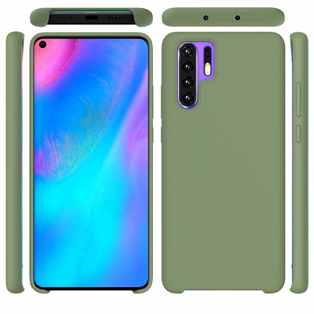 Note 10 Liquid Silicone Solid Plain Simple Soft Rubber Gel Back Cover Case for Samsung Galaxy Note 10 Plus