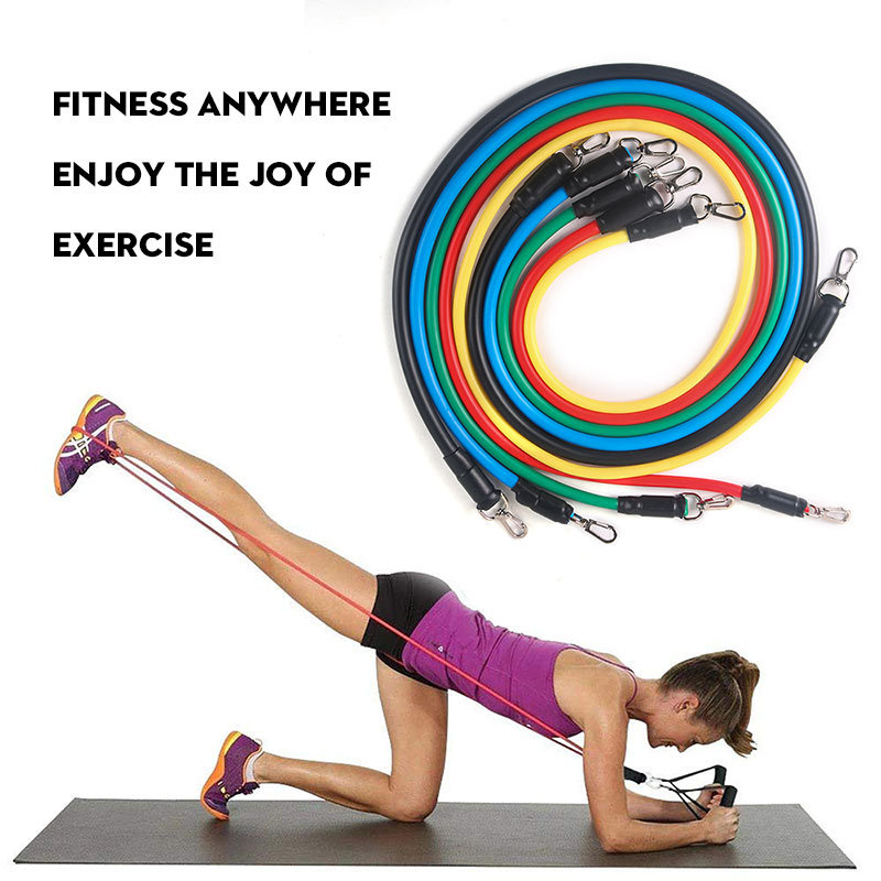 11Pcs Resistance Bands Set Crossfit Stretch Training Yoga Exercise Fitness Band Rubber Expander Tubes Home Gym Pilates Pull Rope 1