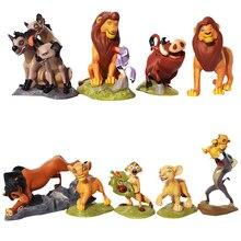 Figuras de acción del Rey León de Disney, 9 unidades/juego, modelo de Simba Nala Timon, juguetes clásicos de PVC, los mejores regalos de Navidad para chico D20S