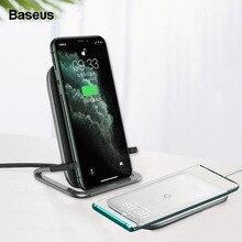 Baseus 15W bezprzewodowa ładowarka qi stojak na iphonea 11 Pro X XS Samsung S20 S10 S9 S8 szybka bezprzewodowa stacja ładująca z uchwytem