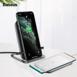 Image 1 - Baseus 15W bezprzewodowa ładowarka qi stojak na iphonea 11 Pro X XS Samsung S20 S10 S9 S8 szybka bezprzewodowa stacja ładująca z uchwytem