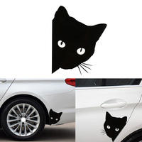 100 pcs Car Sticker cat face peering Decals Pet Cat Motorcycle Decorative Stickers Car Window Decals 12*15cm