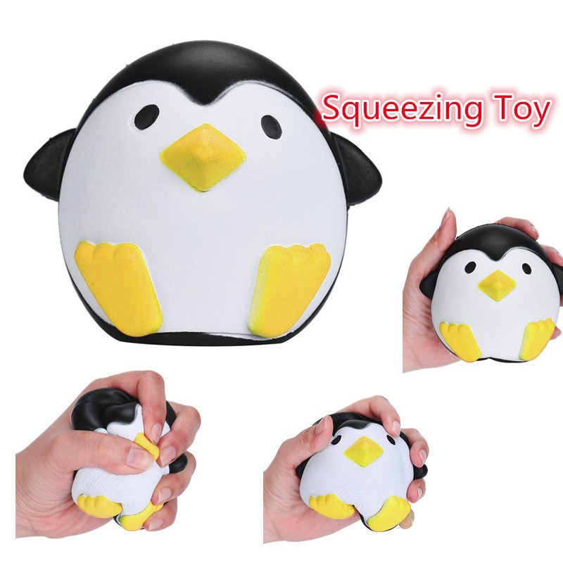 Children's Toys Cute Penguins Squishy Slow Rising Cream Scented Decompression Toys Decompression Toy