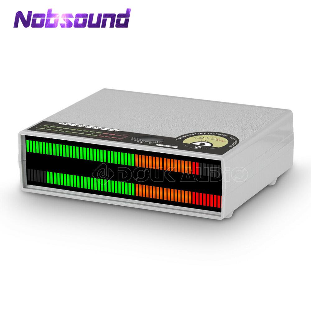 Nobsound 56 Bit LED Music Audio Spectrum Display Stereo Sound Level VU Meter Audio Lamps For Amplifiers