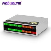 Nobsound Micrófono de 56 bits, luz LED para música, espectro de visualización, nivel de sonido estéreo, de VU Medidor, lámparas de Audio para amplificadores
