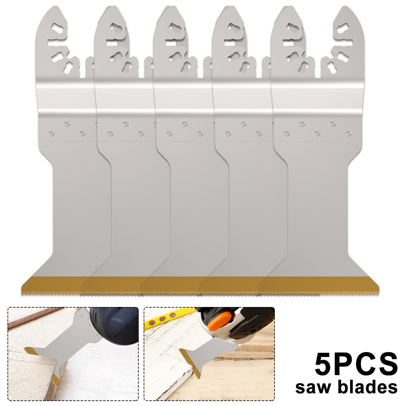 5pcs Multi-Function Bi-metal Precision Saw Blade Oscillating Multi Tool Saw Blade For Renovator Power Cutting Multimaster Tools