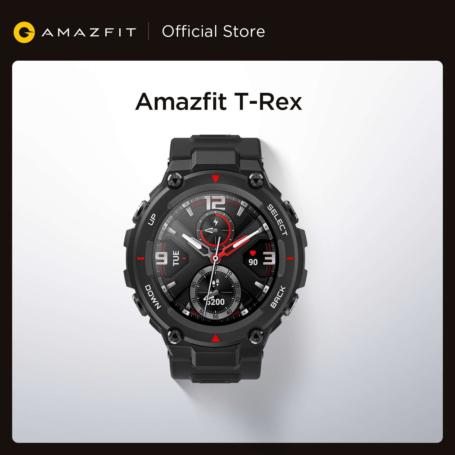 New 2020 CES Amazfit T rex T rex Smartwatch Control Music 5ATM Smart Watch GPS/GLONASS 20 days battery life MIL STD for Android|Smart Watches| - AliExpress