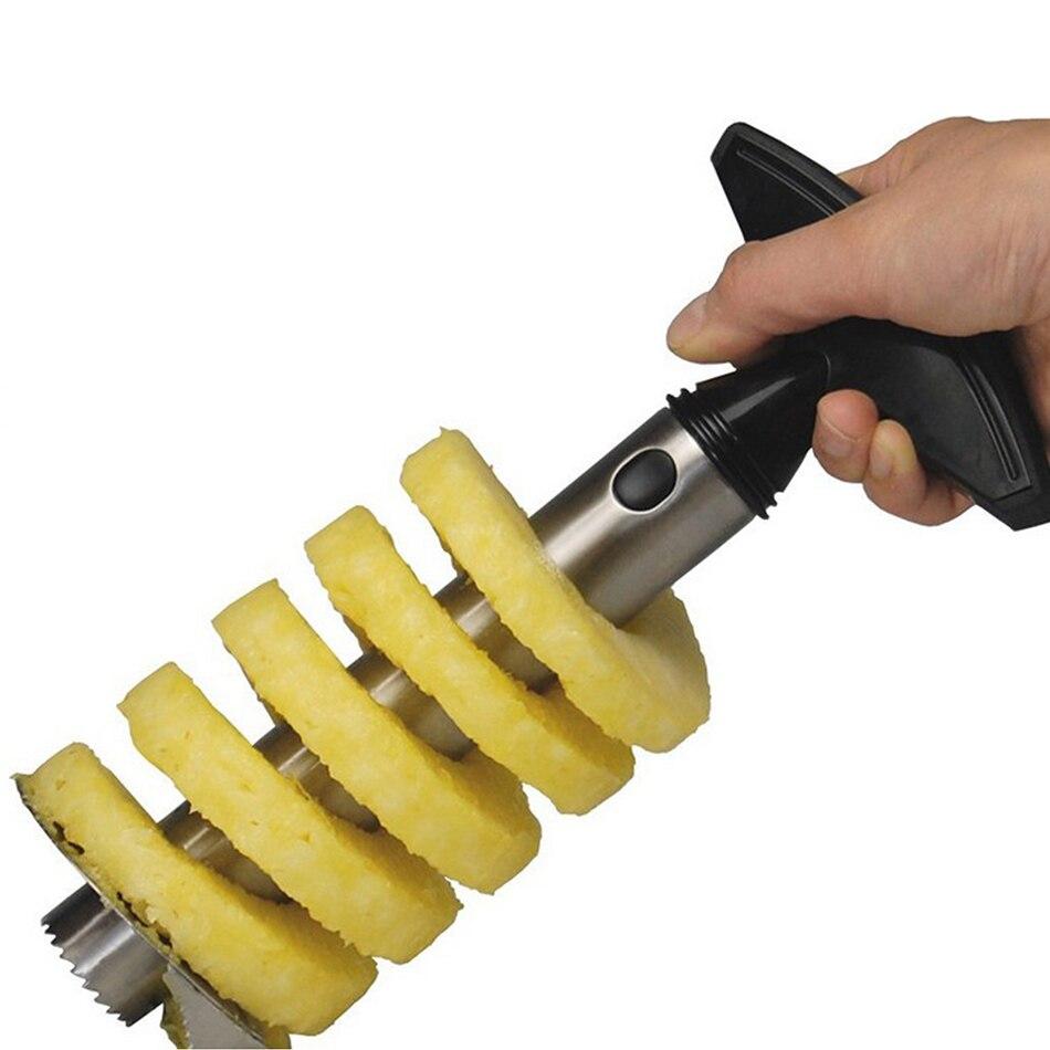 Éplucheur ananas en acier inoxydable | Outil de coupe facile, Parer les fruits, cuisine domestique, accessoires de Restaurant occidental 3 couleurs