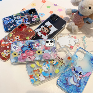 Cartoon Stitch Clear Soft TPU Phone Case For iPhone 7 8 6 S Plus 11 Pro X XS Max XR Chip Dale Moomin Donald Duck Relief Cover(China)