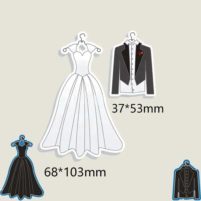 Fashion Wedding dress suit Cutting Dies For Scrapbooking Card Craft Decor FO