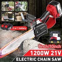 Drillpro 118V 1200W Cordless Portable One Hand Saw Woodworking Electric Chain Saw Wood Cutter 6300mAh Electric Chain Saw