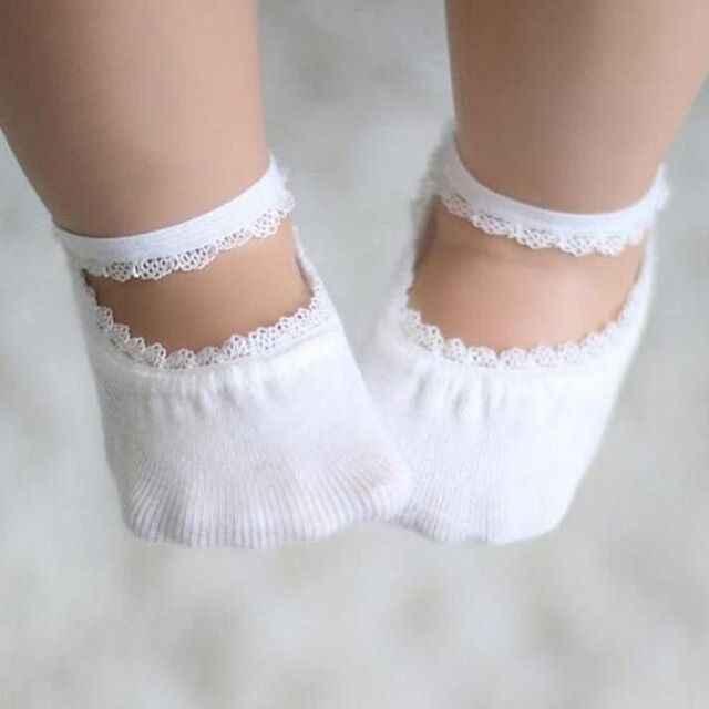 2019 Bebek 1 Çift kaymaz Dantel Bebek Kız Çorap için 1-5 Yıl Sevimli Toddlers Bebekler Pamuk ayak bileği Çorap Bebek Kız Prenses Çorap