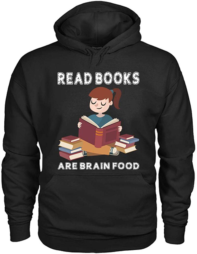 TSDFC Read Books are Brain Food Hoodies Unisex men women hoodie image