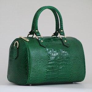 Image 3 - Lüks Boston çanta hakiki deri kadın çanta \ çanta leopar desen marka bayan yastık Tote dana büyük omuz Crossbody çanta