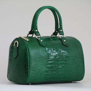 Image 3 - Luxury Boston Bag Genuine Leather Women Bag\Handbag Leopard Pattern Brand Lady Pillow Tote Cowhide Big Shoulder Crossbody Bag