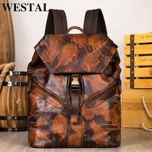 Мужской рюкзак mva для ноутбука 14 дюймов мужской кожаный повседневный