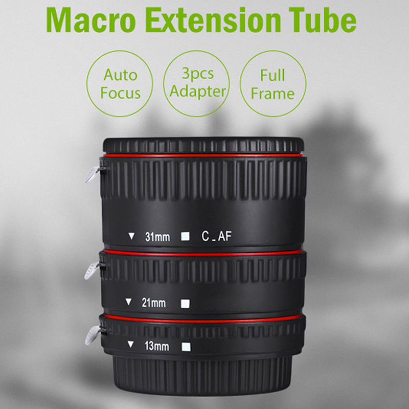 Auto Macro Extension Focus Tube EF-S Lens Durable Macro 13/21/31MM For Canon Camera EF Mount Lenses Autofocus High Quality