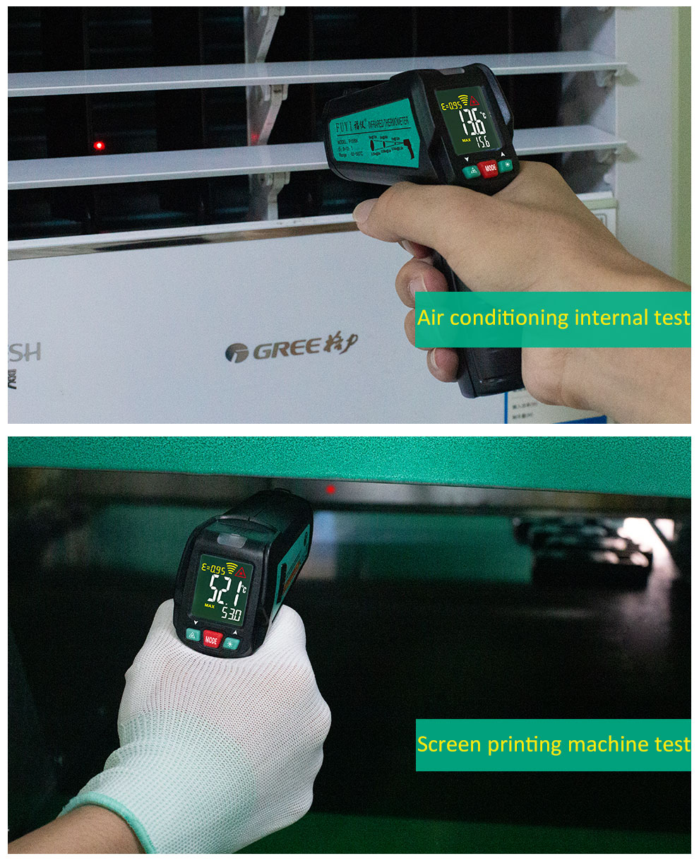 High Precision Non Contact Thermometer with K Probe and LCD Display to Check Body Temperature 24