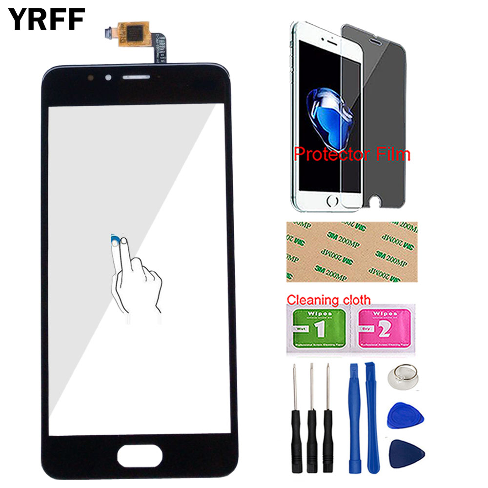 Phone Touch Screen For Meizu Meilan M5S M 5S 5 S M612 Touch Screen Digitizer Panel Lens Sensor Replacement Tools Protector Film