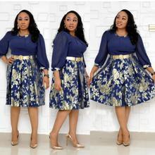 Африканские платья Дашики Новая мода Базен эластичные вечерние платья знаменитый сексуальный дизайн платья для женщин