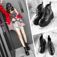 Boots Woman Winter England Locomotive Boots Head With Short Boots Student Woman Shoes