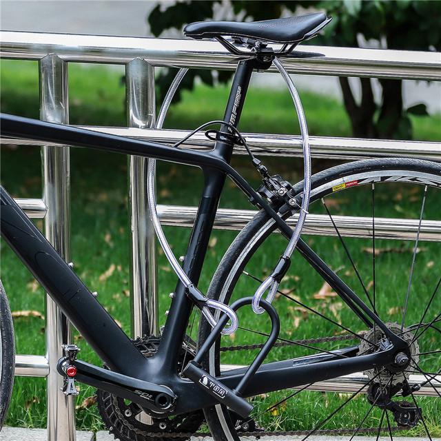Heavy Duty Bike Steel Lock Cable 120cm