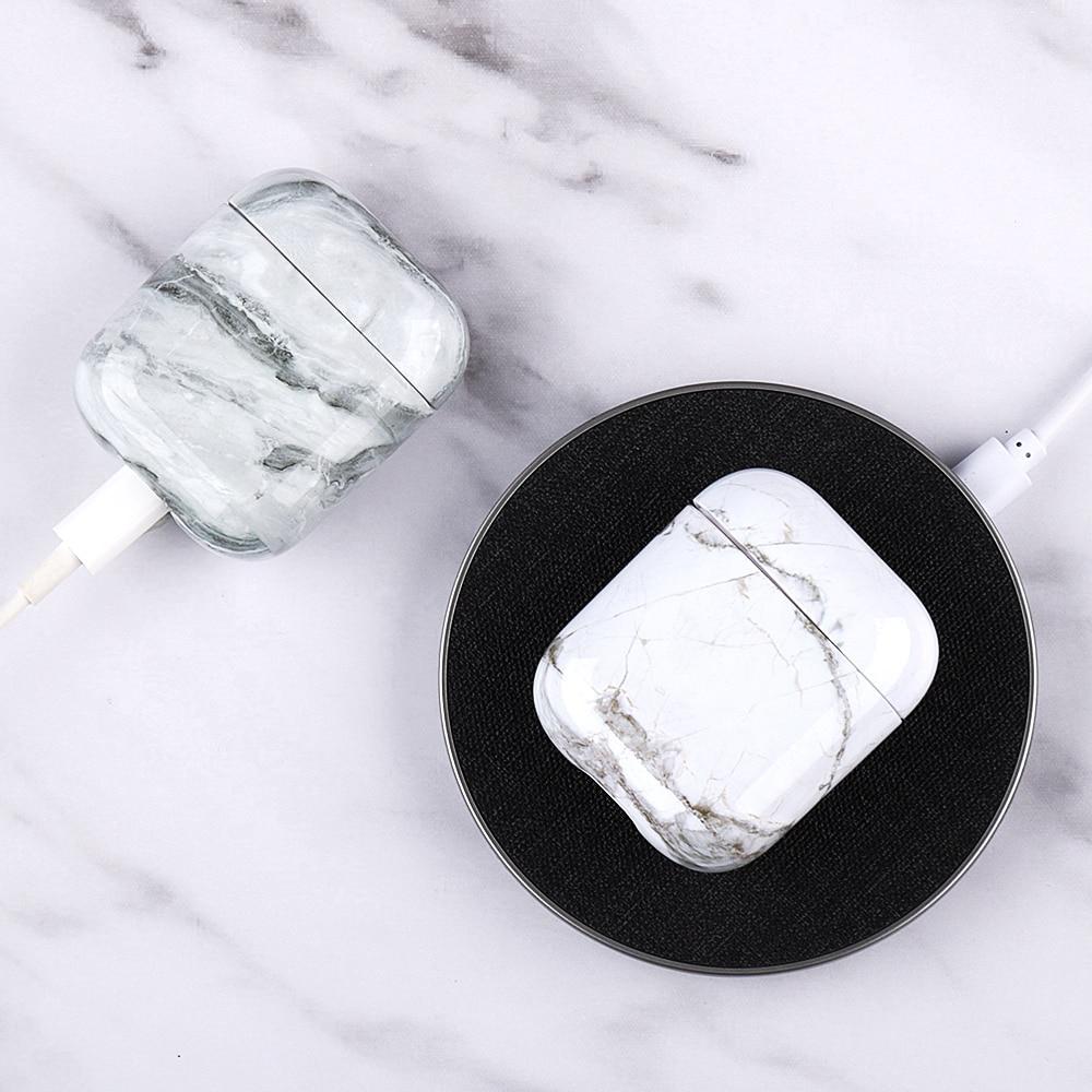 Luxe siliconen oortelefoon case voor Airpods 2 1 marmer patroon - Draagbare audio en video - Foto 6