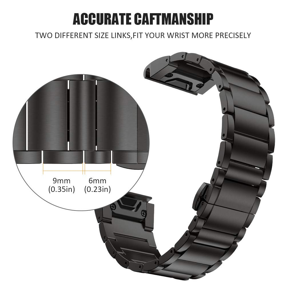 Clearance SaleANBEST Strap Watchband Garmin Fenix Titanium-Alloy 26mm-Width for with Quick-Fit-Function